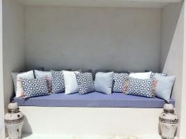 Tapissier e d corateur couturier e voilages rideaux - Tissu impermeable pour coussin exterieur ...